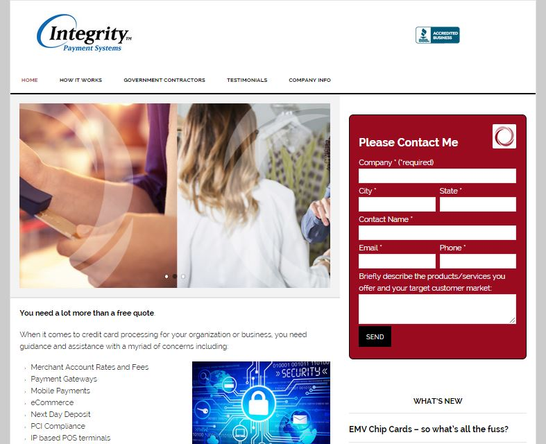 Integrity website design