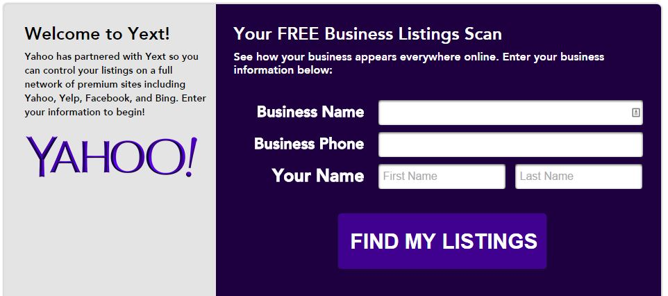 Yext online local business listings web management